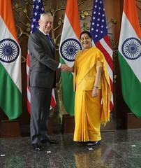 Secretary Mattis with Indian Minister of External Affairs Swaraj at the U.S.-India 2+2 Dialogue (U.S. Department of State) Tags: newdelhi india jamesmattis sushmaswaraj