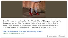 Click your heels / Tap your heels (The Mandela Effect Database) Tags: residual evidence clickyourheels presented by mandela effect database m