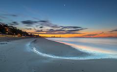 Bournemouth Beach (nicklucas2) Tags: bournemouth beach beachhut seascape seaside sea sand cloud dawn pier