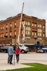 Television Interview (Lester Public Library) Tags: tworiverswisconsin tworivers downtowntworivers schroeders schroedersdepartmentstore schroedersstore store departmentstore downtown wisconsin sign signage storesign signinstallation cranes lesterpubliclibrarytworiverswisconsin readdiscoverconnectenrich