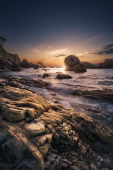 Last flawless light (Manuel.Martin_72) Tags: spain asturien drama enchanting lightdrama majestic magic coast rocks sand stones reflections sea water waterreflections waves ocean glow clouds bluesky skyburning sun evening sunset wbpa cudillero asturias