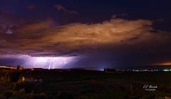 Tormenta en Sierra Morena_1200 (kunkache) Tags: tormenta rayos nocturnas noche lahiguera largaexposición
