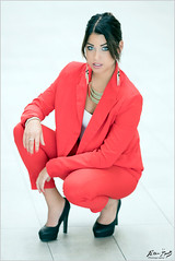 Shannon: Red Suit (Peter Heuts) Tags: shannon utrecht netherlands peter heuts peterheuts photography model shoot sony a99ii a99 mark2 frame bokeh red pants pantalon broek suit pak beautiful closeup 135mm dof carlzeiss fullframe sal135f18z beauty dutch nederlands