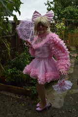 _DSC0072 (DonnaLouise) Tags: pink sissy frilly parasol mini short