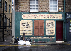 Donovan Bros (Reckless Times) Tags: old london town donovan brothers bros classic rubbish litter trash wet raining street real life slice nikon d750 project 100x