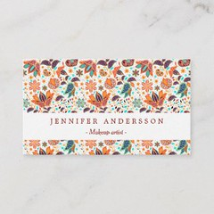Cute colorful classic floral patterns business card (Present gifts) Tags: cute colorful classic floral patterns businesscard