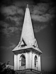 """""""SPIRE CENTER"""" (PALEIDIA-Very Busy) Tags: church old spire"""