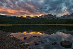 Sweet Summer Sunset (RkyMtnGrl) Tags: mountains lake sunset reflections clouds nature landscape brainardlake indianpeakswilderness colorado september 2018 nikon 28300mm