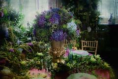 Fantastic decoration ... (Julie Greg) Tags: leedscastle kent decoration flower flowers texture colours canon table glasses festival festivalofflowers england leedscastlefestivalofflowers