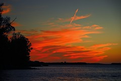 100A5448 (1) (CdnAvSpotter) Tags: sunset glowing clouds ottawa river petrie island ontario canada orange red redskyatnight twilight photography ndfilter