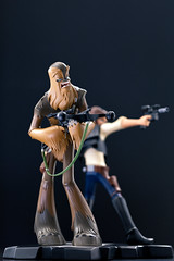 Han Solo & Chewbacca | Statue | Gentle Giant (leadin2) Tags: canon 2018 gentle giant statue wars maquette starwars star a new hope han solo animated chewbacca chewie wookie