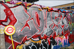 RIP Lover (Alex Ellison) Tags: rip lover kbag trip southlondon brixton skatepark urban graffiti graff boobs