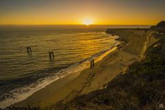 Davenport Sunset 1 (lycheng99) Tags: davenport california californiacoast coast pacificcoast pacificocean waves beach davenportbeach sunset pier architecture structure cliff