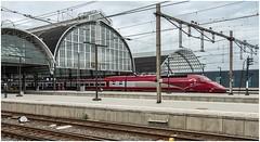 4538. Amsterdam Central. (Alan Burkwood) Tags: amsterdam centralstation thalys tgv pbaclass emu 4538 amsterdamparis passenger train electric