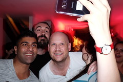 DJ Killer party (Gary Kinsman) Tags: fujifilmxpro1efx20 efx20 flash slowsync slowsyncflash clapton fujix100t fujifilmx100t 2018 london hackney e5 party houseparty people person highiso late night red redlight longexposure slowshutterspeed 1second candid unposed selfportrait selfie grin smile