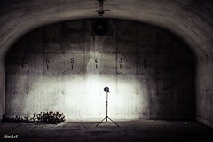 Spotlight without my model.... (2forArt) Tags: urbex shoot humor