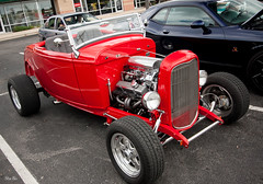 rebelde rojo... (Stu Bo) Tags: canon certifiedcarcrazy coolcar canonwarrior rebel red hotrod horsepower hangingoutwiththefamily ford 1932ford oldschool chromeisking sexonwheels sbimageworks showcar dreamcar