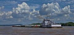 Nashville Hunter (djh644) Tags: a6300 sony il ky ohioriver barge ferry clouds
