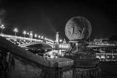 Pont Alexandre-III (qurystof) Tags: pont paris nb ville quai seine irix nikon d 7500 pauselongue nuit bynight