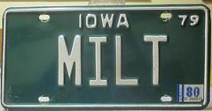 Img_0213 (rickpaulos) Tags: milt iowa license plate