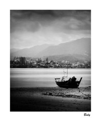201808-19 八里。左岸 NEW TAIPEI CITY (BALY WU) Tags: taiwan 台灣 新北市 八里 船 都市 漁 黑白照片 淡水 linhof 林好夫 4x5相機 hp5 淡水河 出海口 silver salt image