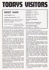 Southampton vs West Ham United - 1974 - Page 7 (The Sky Strikers) Tags: southampton west ham united football league division one the dell matchday magazine 7p