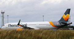 G-TCDC THOMAS COOK AIRBUS A321 NEWCASTLE AIRPORT (toowoomba surfer) Tags: airline airliner aviation aircraft jet aeroplane ncl egnt