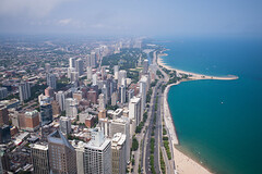 Chicago (romanboed) Tags: leica m 240 summicron 28 usa illinois chicago downtown city street skyline summer urban aerial coast coastline waterfront beach from above lake michigan gold shore drive skyscrapers