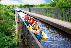 PONTCYSYLLTE PADDLERS (tommypatto : ~ IMAGINE.) Tags: pontcysyllte pontcysyllteaqueduct inlandwaterways canals wales