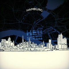 [Maps and Sketches] Hamburg skyline with map (Hebstreits) Tags: architecture areal background black building business city cityscape concerthall design destination detailed drawing drawn elbphilharmonie freecity germany grosefreiheit hamburg hand hanseatic harbour illustration landmark line map nightlife outline panorama pencil plan port poster reeperbahn road roof ship sights silhouette sketch skyline skylinewithmap stpauli style top tourism travel urban vector white
