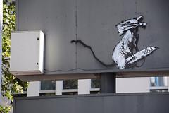 Banksy (HBA_JIJO) Tags: streetart urban pochoir stencil paris animal art france hbajijo peinture spray urbain banksy rat painbting