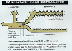 American STL diagram, 2001 (airbus777) Tags: americanairlines stlouislambert stl airportmap 2001