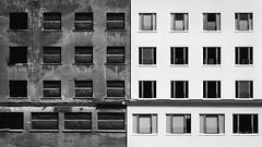 Prora (Felix Ott) Tags: rügen prora ostsee baltic sea oldandnew blackwhite schwarzweis windows fenster