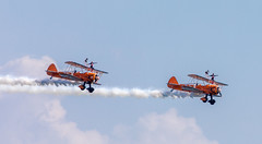 Wing Walkers One Hand (nicklucas2) Tags: bournemouthairfestival aeroplane wingwalkers