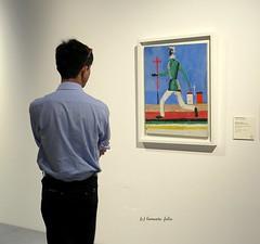Sensación de peligro (El hombre que corre) de Kazimir Malevich. Centre Pompidou Málaga. (lameato feliz) Tags: málaga pintura centrepompidoumálaga museo mirararte art kazimirmalevichpintor