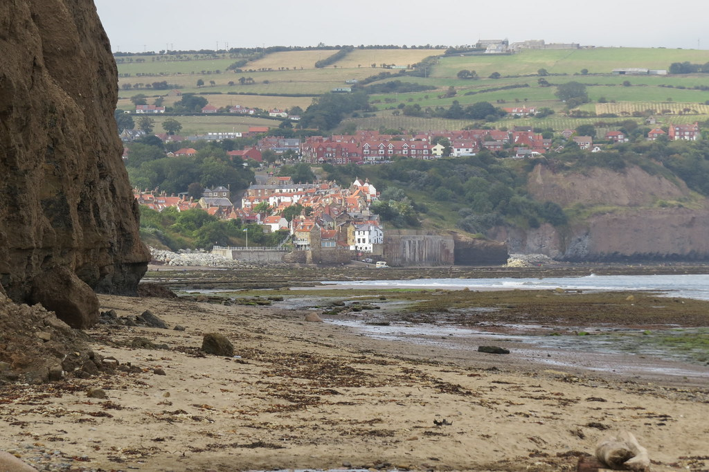 Robin Hoods Bay from Boggle Hole 1