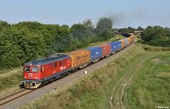 FOXrail 609 008, Biharkeresztes, 4-8-2018 17:20 (Derquinho) Tags: fox rail hajdú bihar foxrail 609 008 60 da 060da sulzer biharkeresztes unit45 po ferrymasters intermodal container train zug trein zeebrugge containertrein containerzug