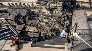 Have to be Careful Going Up and Down the Steps of Baphuon Pyramid-style Temple, Angkor Cambodia-29 (in Explore)