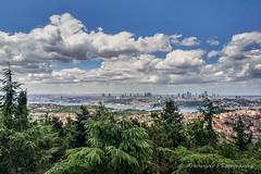 Cityscape 5 Istanbul (Oktay A) Tags: istanbul turkey tr bosphorus minote3 xiaomi hdr city sky pinetrees çamlık pine büyükçamlıca boğaziçi cityscape manzara