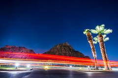 Desert Nights (supra455) Tags: blue ca desert exposure flare indio la lens light long night painting palm quinta red star stars streak tree laquinta california unitedstates us