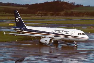 5B-DAT Airbus A320-232 EGPH 18-02-90