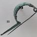 Etruscan or Italic bronze fibula of 'navicella' type
