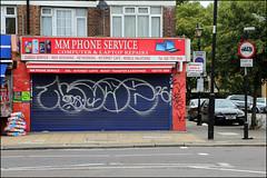 Name (Alex Ellison) Tags: name name26 smc shop store shutter throwup throwie eastlondon urban graffiti graff boobs