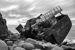 All That Remains (Andrew Hocking Photography) Tags: rms mulheim wreck shipwreck sennen landsend cornwall mono monochrome blackwhite castlezawn mayon wreckage metal twisted granite boulders sea ocean coast rugged cargo rust leefilters vessel mechanical