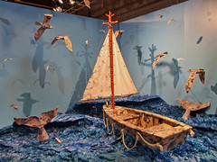 29 Rooms Sailboat (Atelier Teee) Tags: terencefaircloth atelierteee 29rooms chicago illinois boat sailboat sail whale sea birds fluke