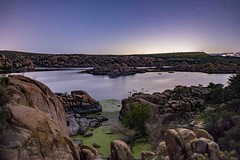 Watson Lake2s (svubetcha) Tags: arizona night sky rocks southwest lake
