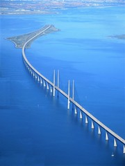 Øresund Bridge and Peberholm from the air, Denmark / Sweden (Paul McClure DC) Tags: oresund øresund öresund july2015 scenery scandinavia sweden denmark fromtheair