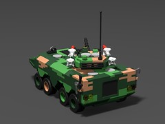 Chinese zbl-09 APC(showcase)5 (demitriusgaouette9991) Tags: lego military army ldd armored apc powerful chinese transport deadly
