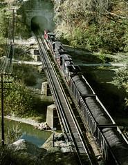 Hemphill WV Wednesday October 16rh 1985 1634EDT (Hoopy2342) Tags: train rail railroad railway hemphill westvirginia wv bridge norfolksouthern ns coal tugfork mcdowellcounty