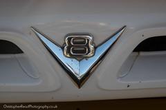 Ford V8 grille badge (christopherread490) Tags: croxleygreen england unitedkingdom ford v8 grille badge chrome